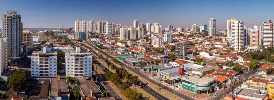 1 de Agosto – Vista panorâmica da cidade — Bauru (SP) — 121 Anos em 2017.
