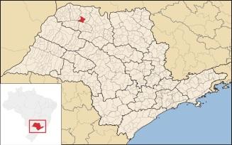 8 de Agosto – Mapa de localização — Votuporanga (SP) — 80 Anos em 2017.