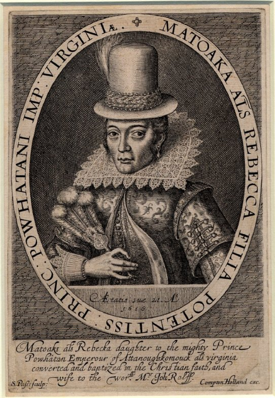 21 de Março - Pocahontas, nativa americana_by_Simon_van_de_Passe_1616