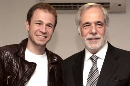 22 de Maio - 1980 - Tiago Leifert e o pai, Gilberto Leifert.