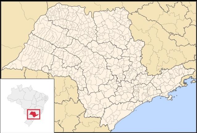25 de Julho - Mapa de localização — Águas de São Pedro (SP) — 77 Anos em 2017.