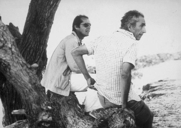 22 de Abril – Jack Nicholson e o cineasta italiano Michelangelo Antonioni.