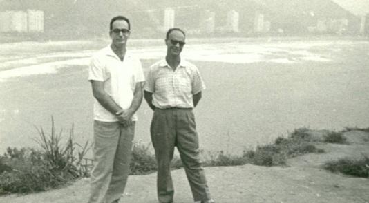 12 de Abril - 1932 - Waldo Vieira, médico brasileiro fundador da Conscienciologia, com Chico Xavier.