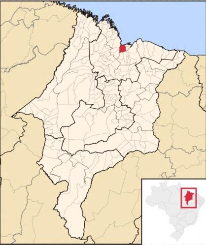 8 de Setembro – Mapa de localização — São Luís (MA) — 405 Anos em 2017.