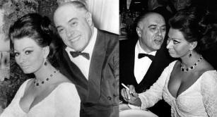 20 de Setembro – Sophia Loren - 1934 – 83 Anos em 2017 - Acontecimentos do Dia - Foto 21 - Sophia Loren com o marido, Carlo Ponti.