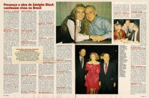 8 de Outubro - Adolpho Bloch - 1908 – 109 Anos em 2017 - Acontecimentos do Dia - Foto 14 - Adolpho Bloch com Angélica, Tônia Carrero e Cecil Thiré, na revista, com depoimentos.