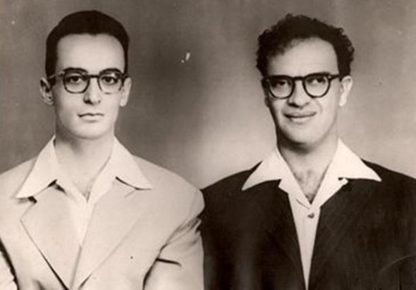 12 de Abril - 1932 - Waldo Vieira com Chico Xavier, jovem.