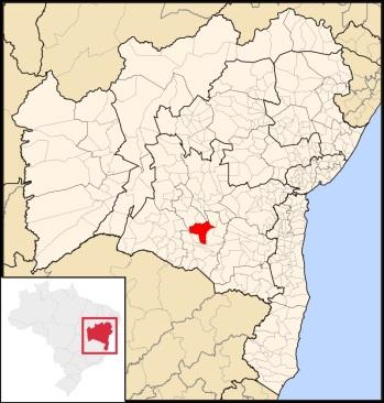 11 de Junho - Localização - Brumado (BA) - 140 Anos.