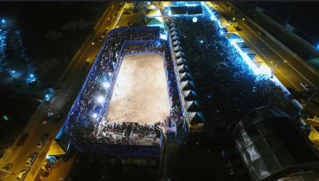 19 de Agosto – Foto aérea do Rodeio e Shows — Vianópolis (GO) — 69 Anos em 2017.