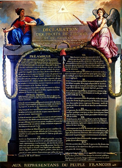 26 de Agosto — 1789 — Revolução Francesa - é votada a Declaração dos Direitos do Homem e do Cidadão.