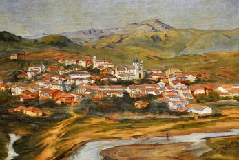 16 de Julho - Panorama de Mariana, por Alberto Delfino (1895) — Mariana (MG) — 321 Anos em 2017.
