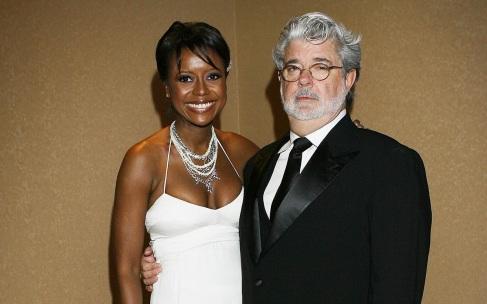 14 de Maio – George Lucas com a esposa Mellody Hobson.