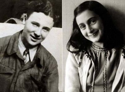 12 de Junho - 1929 – Anne Frank, escritora alemã e vítima judia dos nazistas - Com seu namorado Peter van Pels (Daan).
