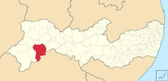 7 de Junho - Localização - Santa Maria da Boa Vista (PE) - 145 Anos.