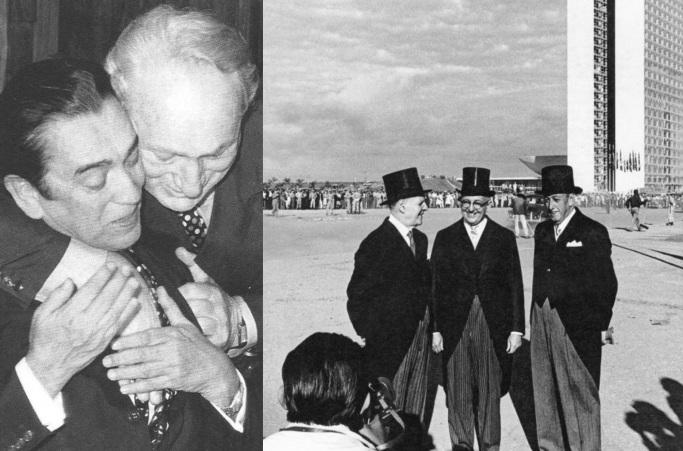 8 de Outubro - Adolpho Bloch - 1908 – 109 Anos em 2017 - Acontecimentos do Dia - Foto 11 - Adolpho Bloch e JK - Inauguração de Brasília.