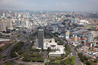 20 de Agosto – Foto aérea da cidade — São Bernardo do Campo (SP) — 464 Anos em 2017.