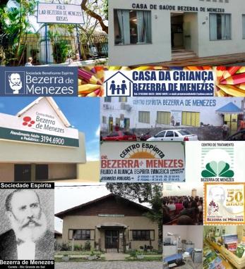 29 de Agosto — Bezerra de Menezes - 1831 – 186 Anos em 2017 - Acontecimentos do Dia - Foto 10 - Entidades que levam o nome do Dr. Bezerra de Menezes.