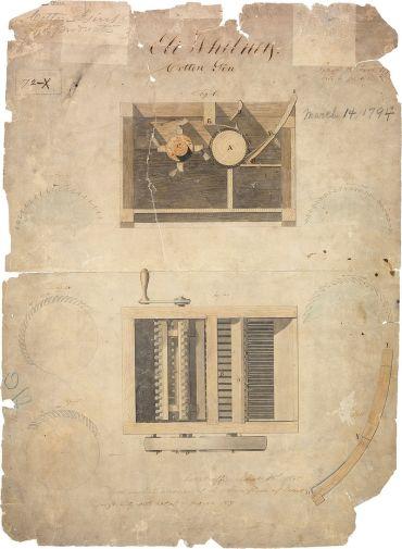 14 de Março - 1794 - A patente do descaroçador de algodão.