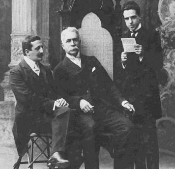19 de Agosto – Foto 12 - Graça Aranha, Joaquim Nabuco e Magalhães de Azeredo (à partir da esq.) em Roma, em 1904. Acervo da Fundação Joaquim Nabuco.