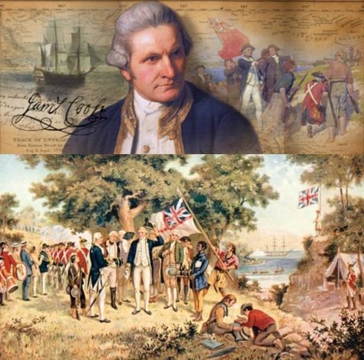 21 de Agosto – 1770 — O capitão James Cook, no fim da sua viagem de descoberta da Austrália, reclama o continente em nome do Império Britânico.