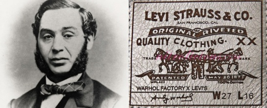 20 de Maio - 1873 – Levi Strauss patenteia sua nova invenção - o Jeans.