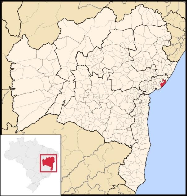 28 de Setembro – Mapa de localização — Camaçari (BA) — 259 Anos em 2017.