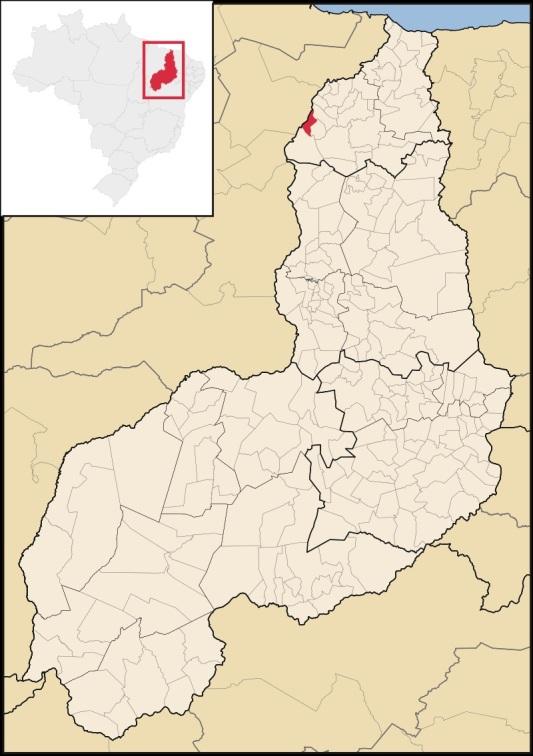 25 de Junho - Mapa de localização — Porto (PI) — 97 Anos.