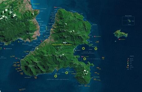 3 de Setembro – Mapa detalhado de Ilha Bela e São Sebastião — Ilhabela (SP) — 212 Anos em 2017.