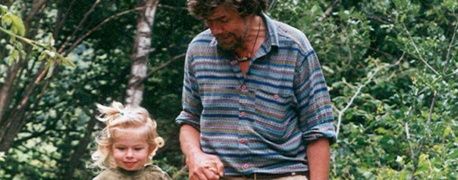 17 de Setembro – Reinhold Messner - 1944 – 73 Anos em 2017 - Acontecimentos do Dia - Foto 22 - Reinhold Messner com Ana, a filha mais nova.