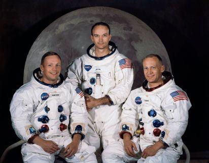 20 de Julho - Tripulação da Apollo 11- Neil Armstrong, Michael Collins e Edwin Audrin.