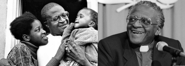 7 de Outubro - Desmond Tutu- 1931 – 86 Anos em 2017 - Acontecimentos do Dia - Foto 23 - O jovem Desmond com sua esposa Leah Tutu e seu filho, Trevor.