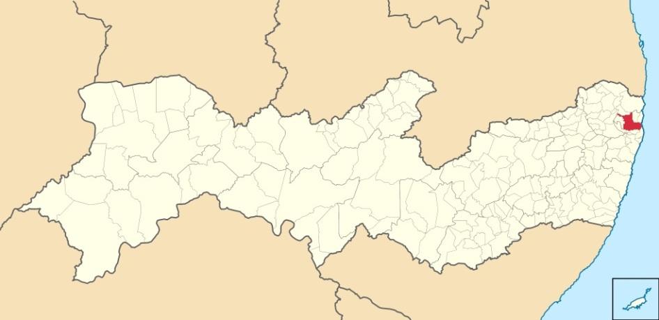 27 de Setembro – Mapa de localização — Igarassu (PE) — 482 Anos em 2017.