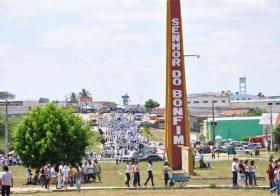 28 de Maio - Praça da torre com o nome da cidade — Senhor do Bonfim (BA) - 132 Anos.