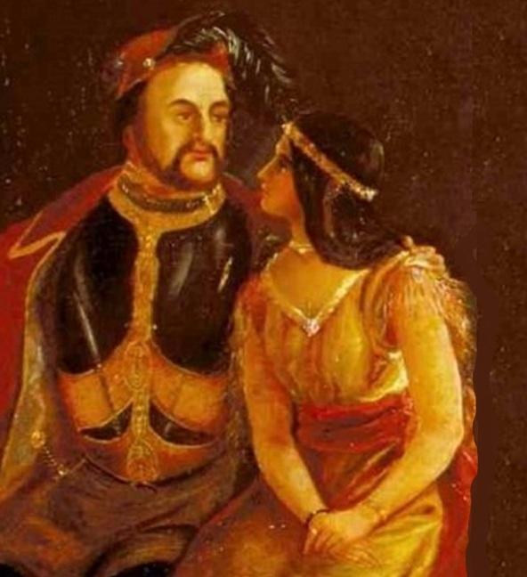 5 de Abril - 1614 — Na Virgínia, a nativa americana Pocahontas casa com o colono inglês John Rolfe.