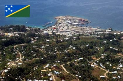 Cidade de Honiara, capital das Ilhas Salomão.