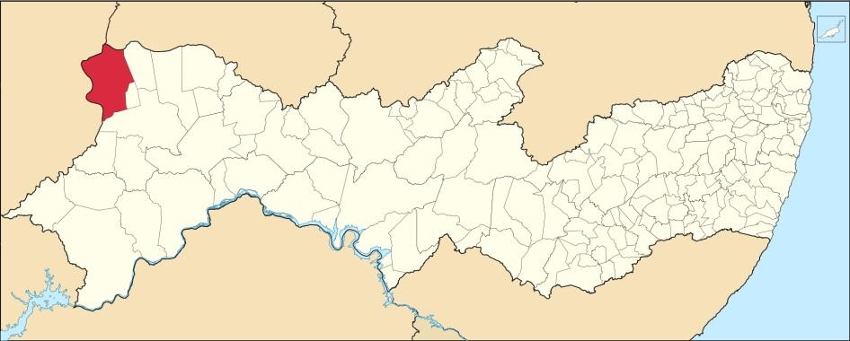 11 de Setembro – Mapa de localização — Araripina (PE) — 89 Anos em 2017.