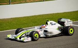 23 de Maio - Rubens durante o GP da Espanha, em 2009, pela Brawn GP.