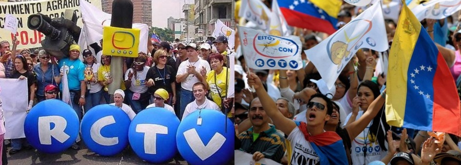 27 de Maio - 2007 - A RCTV é retirada do ar pelo governo de Hugo Chávez, de quem era ferrenha opositora. No lugar, entra o canal estatal TVes.