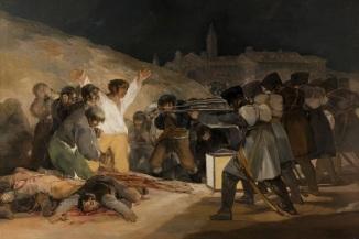 3 de Maio - 1808 - Os fuzilamentos de três de Maio, nome pelo qual é habitualmente conhecido, é um quadro do pintor espanhol Francisco de Goya.