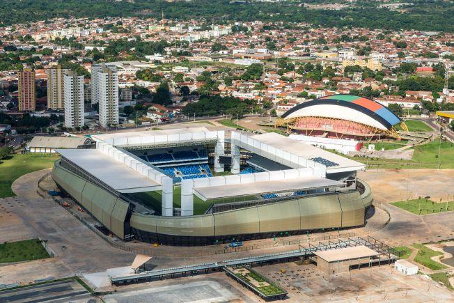 8 de Abril - A Arena Pantanal, palco da Copa do Mundo FIFA 2014, em Cuiabá - MT.