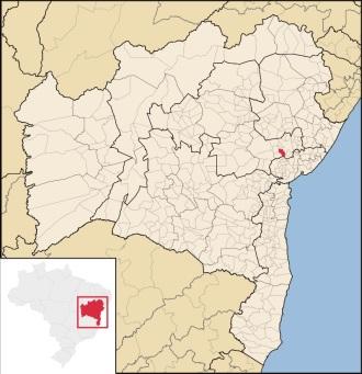 18 de Abril - Antônio Cardoso (BA), Mapa.