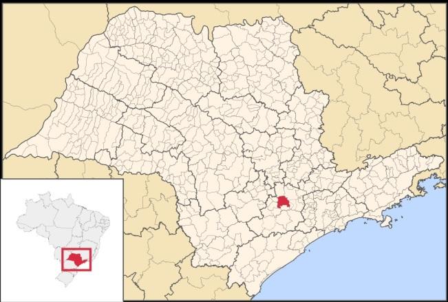 15 de Agosto – Mapa de localização — Sorocaba (SP) — 363 Anos em 2017.