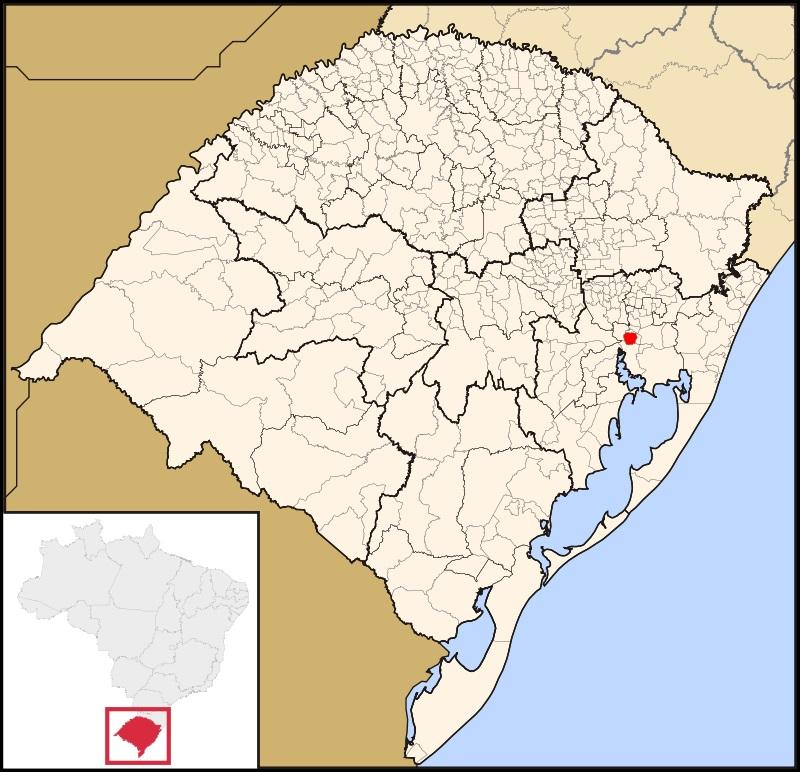 27 de Junho – Mapa de localização — Canoas (RS) — 78 Anos.