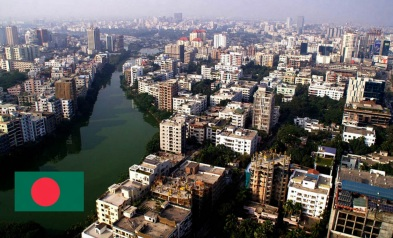 Cidade de Daca, capital de Bangladesh.