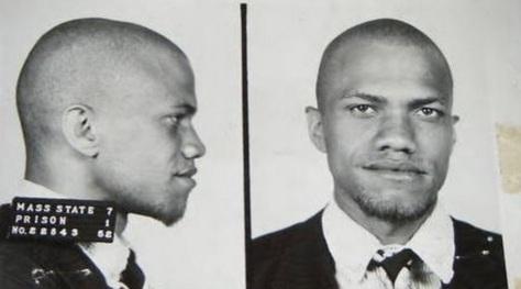 19 de Maio - Malcolm X, fotomontagem com perfil.