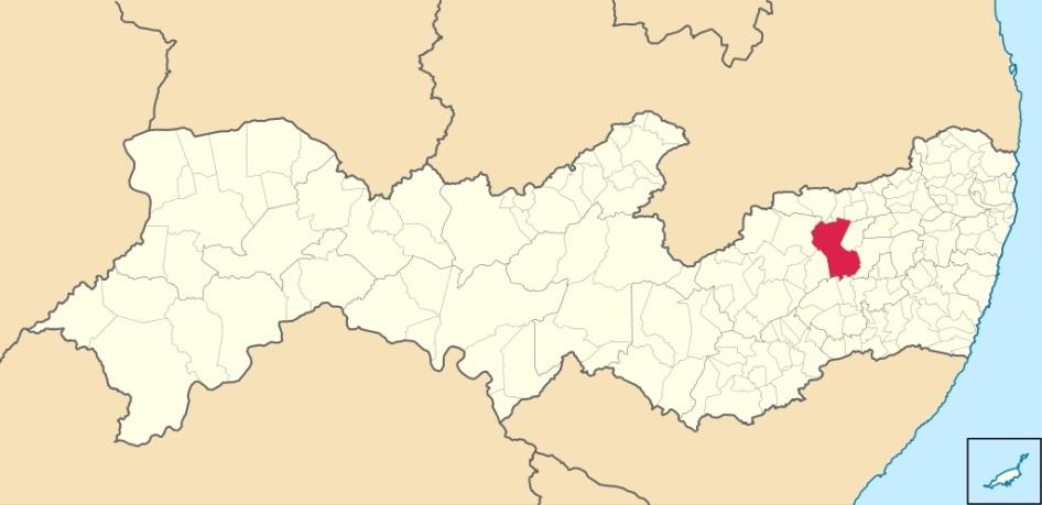 18 de Maio - Localização de Caruaru em Pernambuco - Caruaru (PE) 160 Anos.