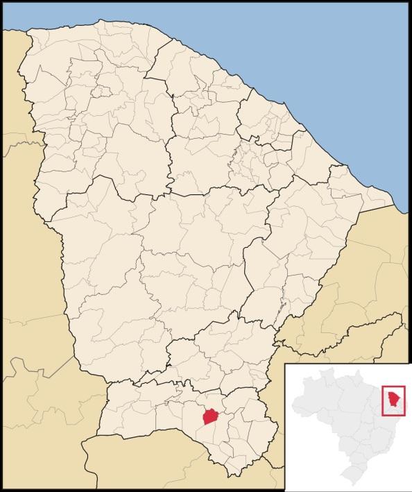 22 de Julho - Mapa de localização — Juazeiro do Norte (CE) — 106 Anos em 2017.