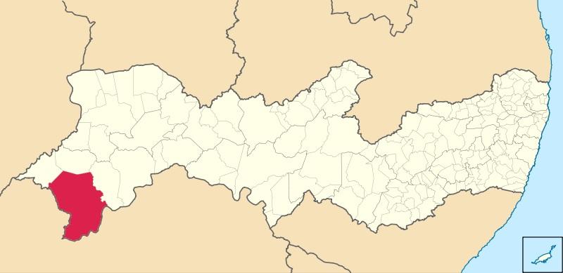 21 de Setembro – Mapa de localização — Petrolina (PE) — 122 Anos em 2017.